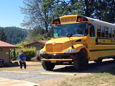 Summer Camp bus transportation to Tilikum